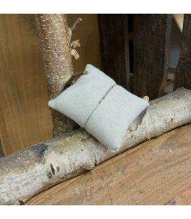 Bracelet en Labradorite trait plaqué Argent rhodié