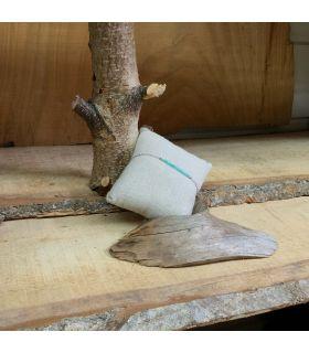 Bracelet en Amazonite trait plaqué Argent rhodié