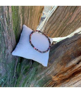 Bracelet en Rhodonite (petites perles) élastique