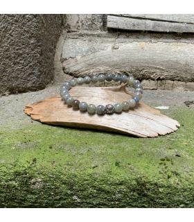 Bracelet en Labradorite (grosses perles) élastique homme