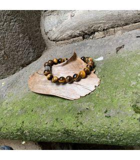 Bracelet en Oeil de Tigre (très grosses pierres) élastique homme