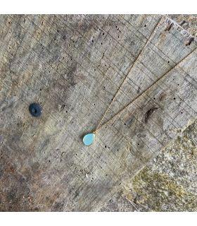 Pendentif en Amazonite sertie goutte plaqué or