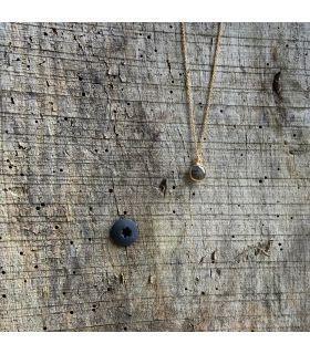 Pendentif en Labradorite sertie carré plaqué or