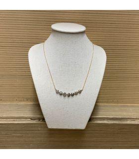 Collier en Labradorite plaqué or 7 perles
