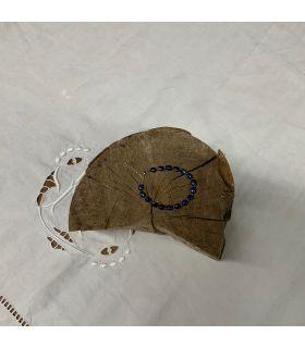 Bracelet en Lapis lazuli ovale mousqueton
