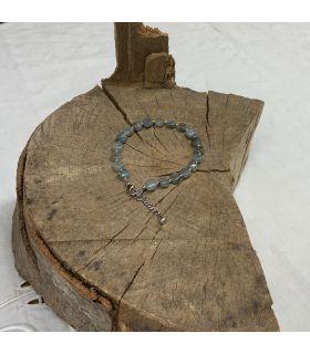 Bracelet en Labradorite carrée mousqueton