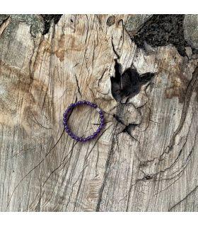 Bracelet en Améthyste (perles moyennes) élastique